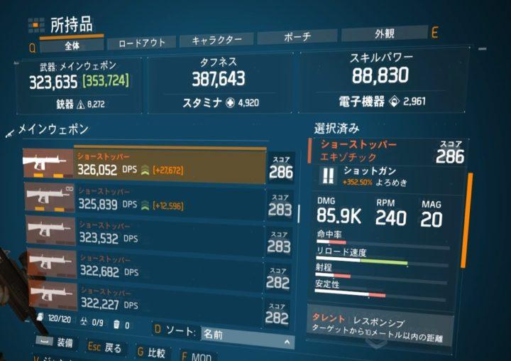 ディビジョン1.8.1最強エキゾチック武器ランキング ショートストッパー