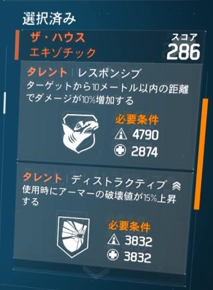 ディビジョン1.8.1最強エキゾチック武器ランキング ザ・ハウス レスポンシブ ディストラクティブ