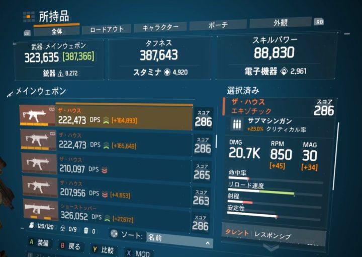 ディビジョン1.8.1最強エキゾチック武器ランキング ザ・ハウス