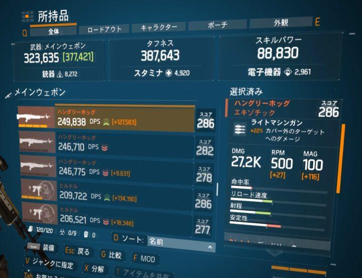 ディビジョン1.8.1最強エキゾチック武器ランキング ハングリーホッグ