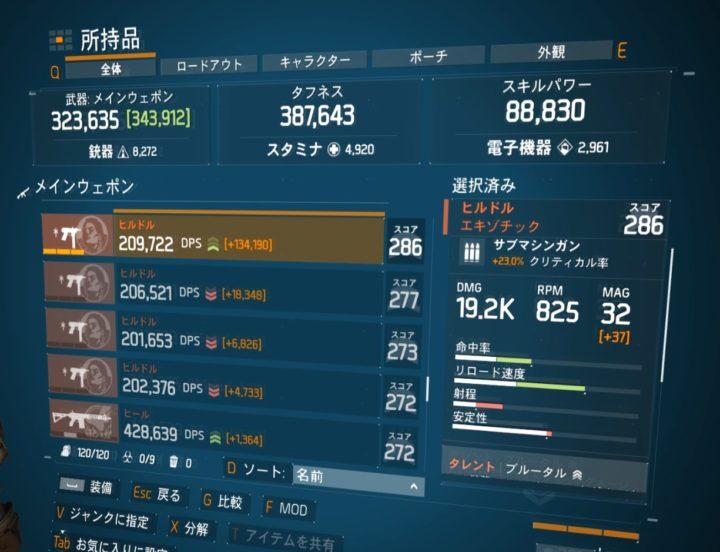ディビジョン1.8.1最強エキゾチック武器ランキング ヒルドル